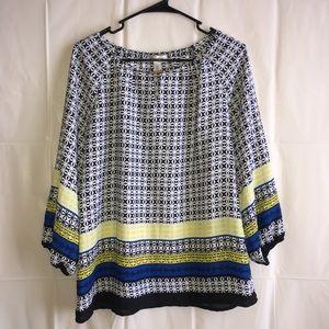 Dress barn quarter sleeve blouse
